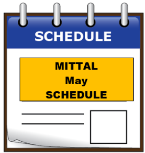 MITTAL may schedule