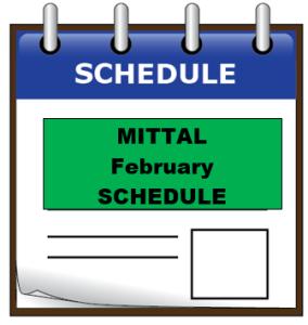 mittal feb schedule