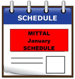 mittal jan schedule